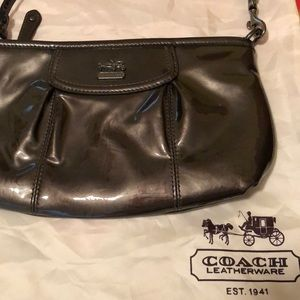 Coach purse - metallic